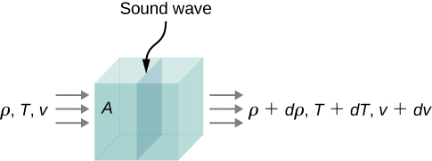 Sound wave with the relevant physical quantities