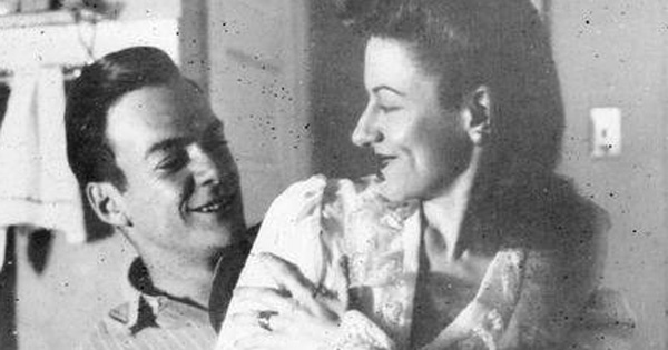 Feynman with his first wife Arline Greenbaum. Their romance was dramatized and depicted in the 1996 American film titled 'Infinity'.
