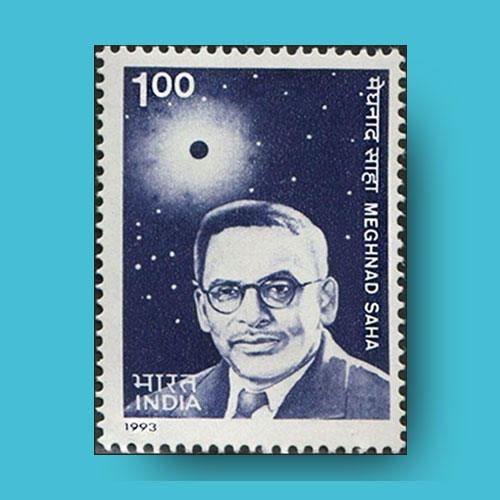 To mark Saha's birth centenary year, India post has issued 100 Paisa (1 Rupee) commemorative stamp on 23 December 1993.