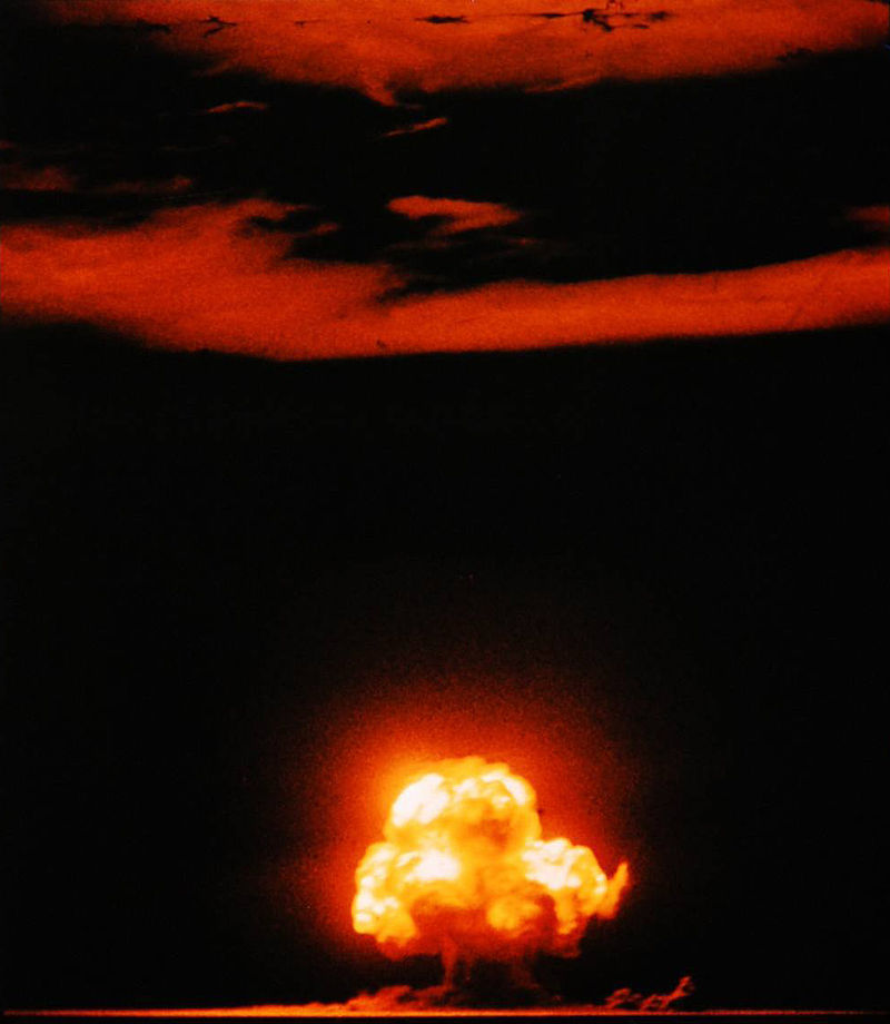 Trinity was the code name of the first detonation of a nuclear device. Notable observers include James Chadwick, Enrico Fermi, Richard Feynman, Robert Oppenheimer, and John von Neumann among others.