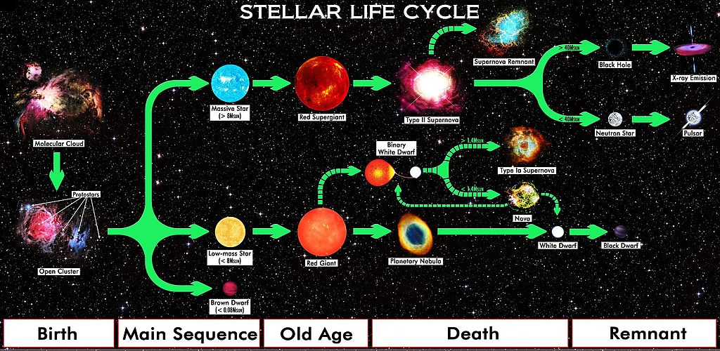 Life cycle of a star image