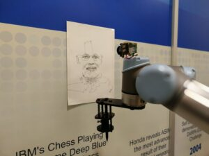 Chitrakar: A Robotic System That Can Tranform Human Images Into Drawings