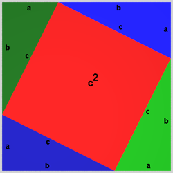 Proof of Pythagorean Theorem by rearrangement
