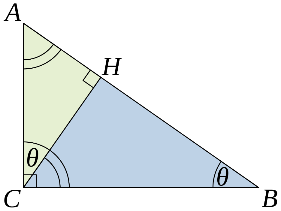 Similar triangles proof for Pythagorean Theorem