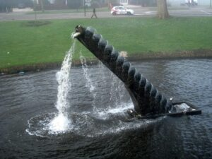 Archimedes screw as a form of art by Tony Cragg at 's-Hertogenbosch in the Netherlands